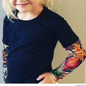 Kids Tattoo arm T shirt
